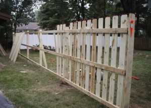 Repairing fences