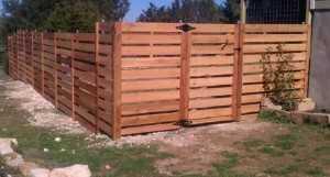 Wooden Slat Fencing