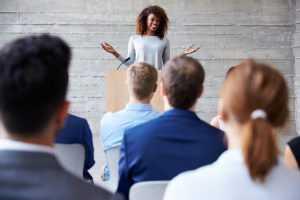 Woman Doing Public Speaking