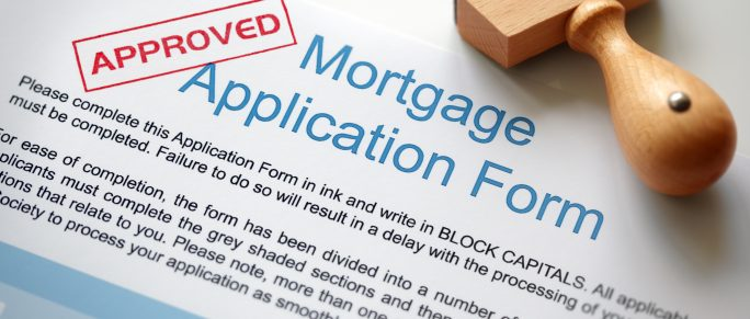 Approved and stamped mortgage application form
