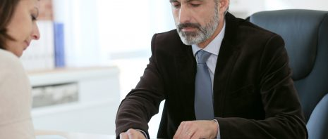Woman applying for loan
