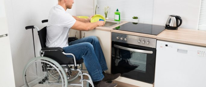 differently abled man