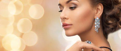 a beautiful woman wearing jewelry