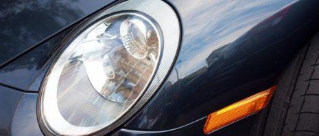 car light of a porsche