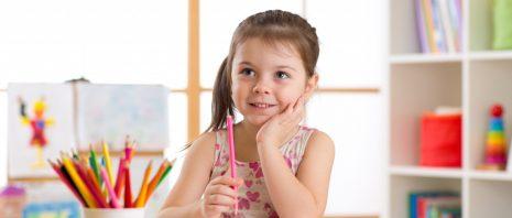 little girl attending primary school