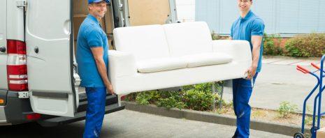 Furniture being delivered