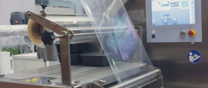 Machine for packing food products
