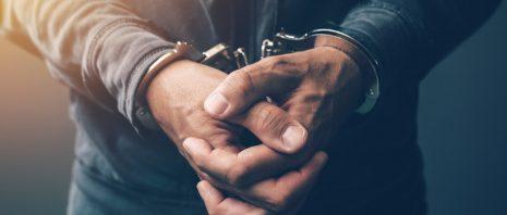 Hands on handcuffs