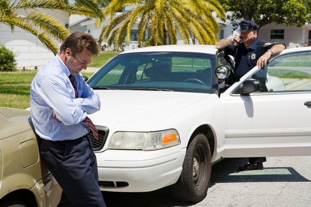 policeman on the radio