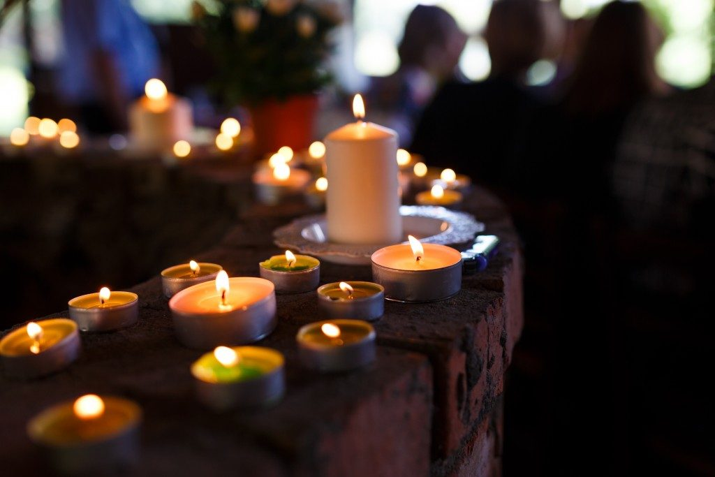 Candles in memorial