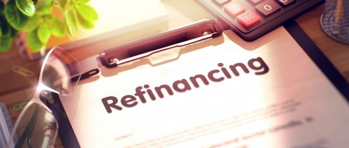 Refinancing contract on a desk